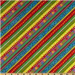 FR-963 Playful Pets Flannel Stripe Multi