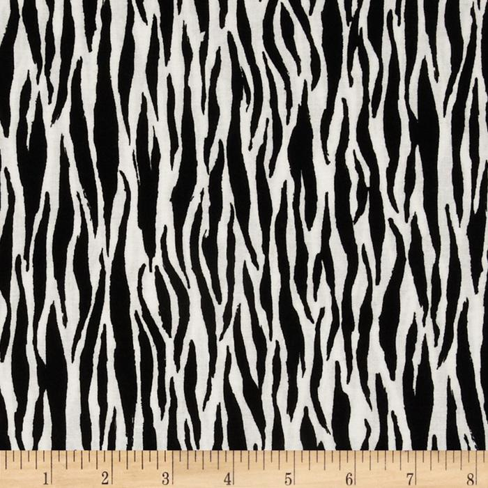 Noah's Ark Zebra Stripe Black/White