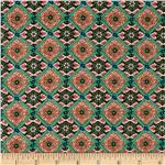 0290236 Rayon Voile Tile Green/Black