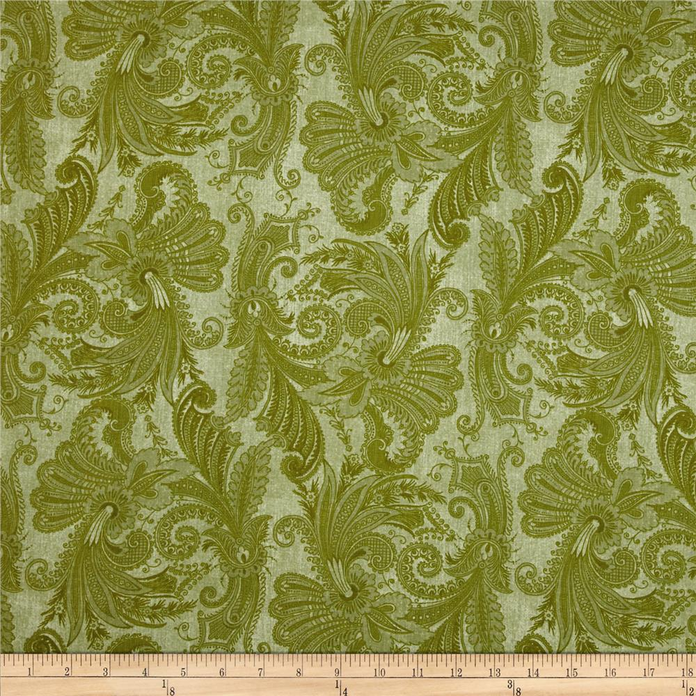 "108"" Wide Essentials Quilt Backing Marrakesh Light Green"