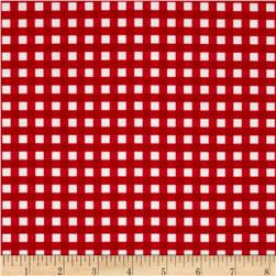 Riley Blake Medium Gingham Red