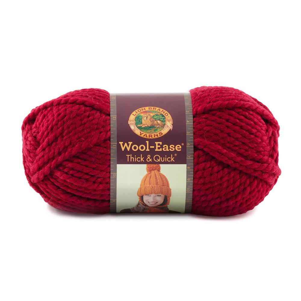 Lion Brand Wool-Ease Thick &amp; Quick Yarn (138) Cranberry