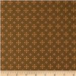 0278348 Winterberry Lane Floral Checkered Brown