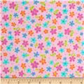 Lollipop Flannel Flowers Bubblegum