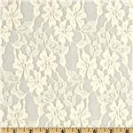 204625 Designer Cotton Blend Lace Floral Ivory