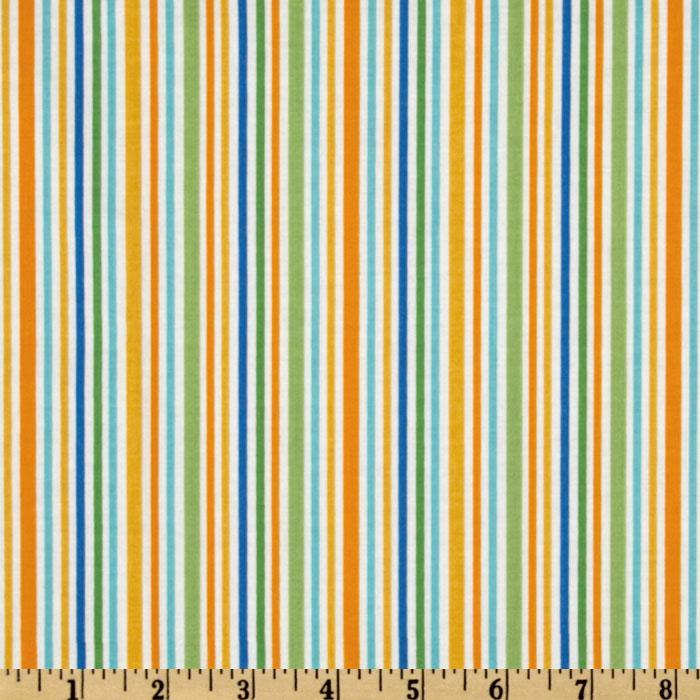 Riley Blake Zoofari Organic Stripe Orange