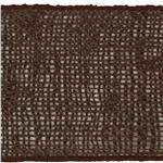 4&quot; Burlap Wired Ribbon Brown