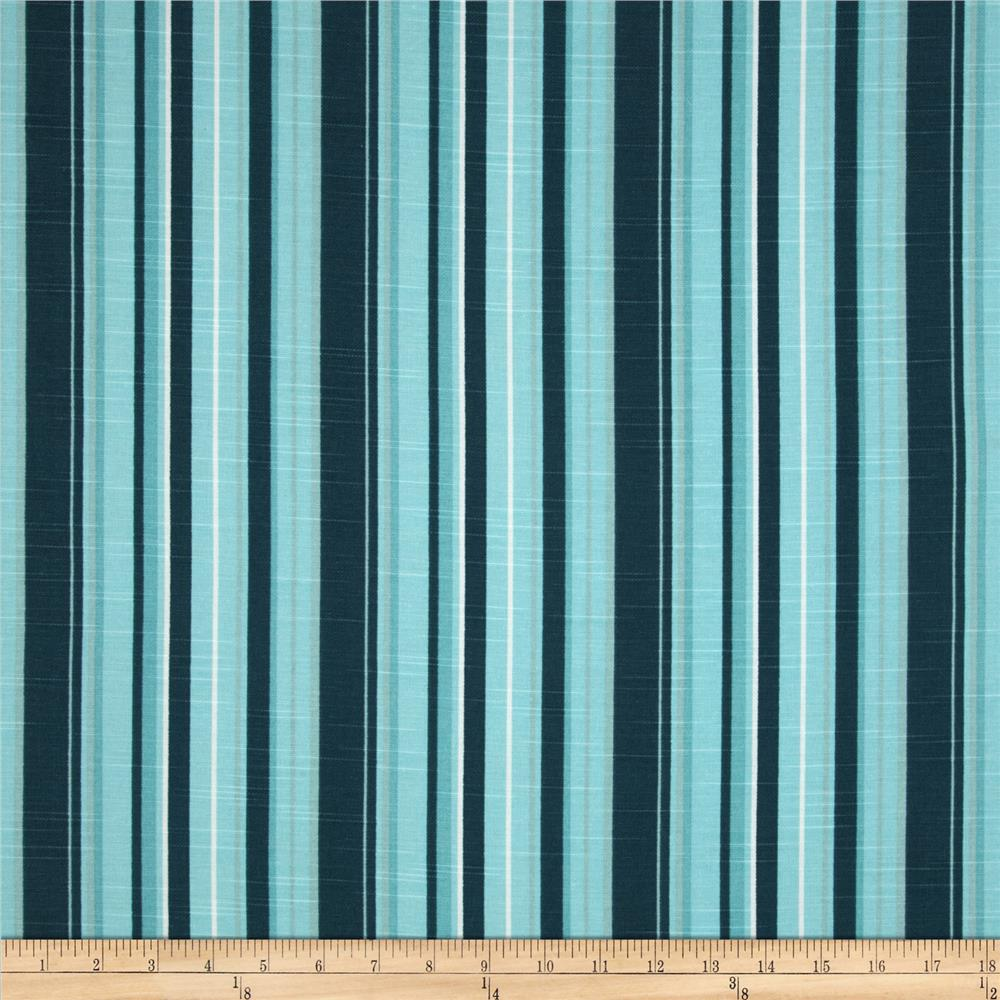 Premier Prints Stripe Slub Blue