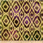 0269083 Textile Creations Batik Duck Diamond Ikat Aqua/Purple