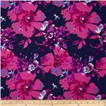 Van Gogh Rayon Challis Etched Fuchsia