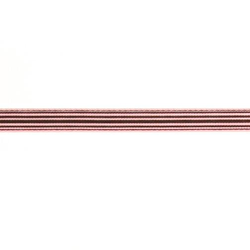 3/8'' Grosgrain Stripe Ribbon Brown/Pink