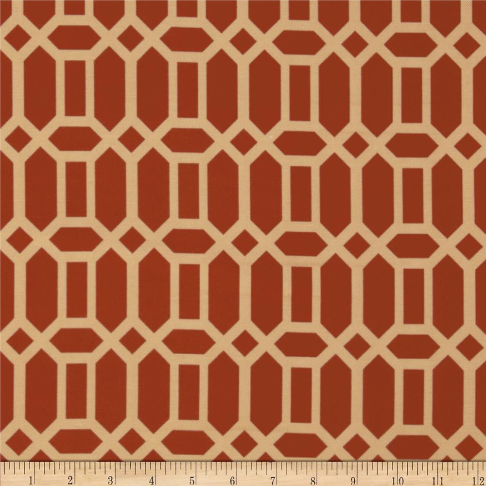 Tempo Indoor/Outdoor Geo Terracotta