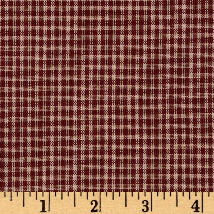 Homespun Basics 1/8&#39;&#39; Check Red/Natural