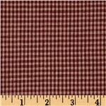 Homespun Basics 1/8'' Check Red/Natural