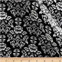 Robert Kaufman Silky Satin Victorian Damask Black/White