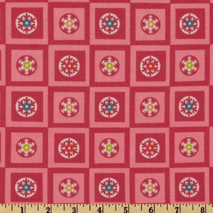 Winterkist Snowflake Squares Red