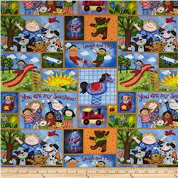 You Are My Sunshine Kids Patchwork Blue