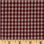 Homespun Basics 1/4&#39;&#39; Check Red/Natural