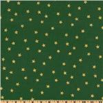 FO-015 Merry Christmas Stars Metallic Gold/Green