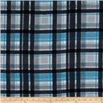 0262619 Fleece Plaids Black/Blue