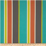 0283064 Tempo Indoor/Outdoor Stripe Aqua/Orange/Grey