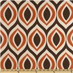 0264413 Home Accents Arabesque Flocked Autumn Rust