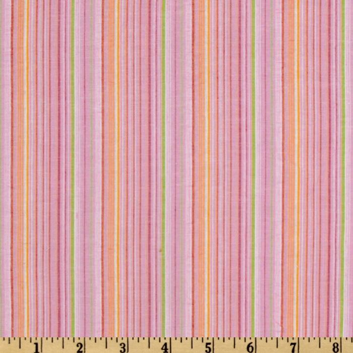 Seersucker Thin Stripe Pink