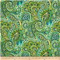 Cypress Large Paisley Emerald