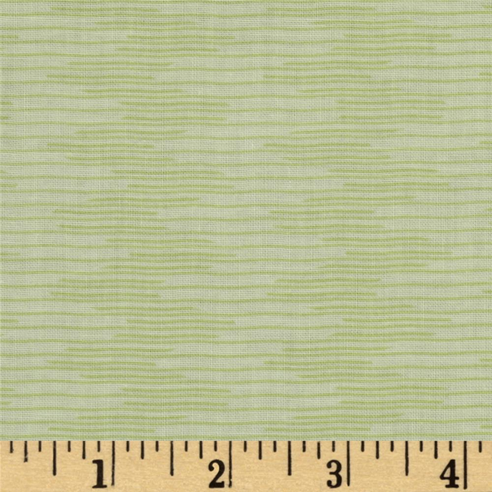 City Girl Wavy Stripe Pale Green
