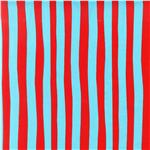Celebrate Seuss! Minky Cuddle Squiggle Stripe Red/Blue