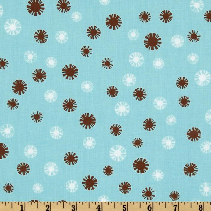 Pimatex Basics Spiral Dot Aqua/White/Brown