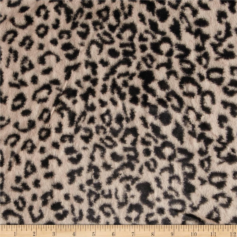 Minky Cuddle Cheetah Brown/Black