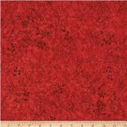 Studio Stash Etched Flower Coral Red