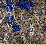 0265277 Safari Shimmer Stretch ITY Knit Flourish Royal/Gold