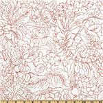 205810 Monochrome Floral Red/White