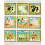 0280795 Moda Oink A Doodle Moo Farm Panel Eggshell