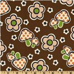 FK-586 Kokka Trefle Daisy &amp; Mushroom Brown