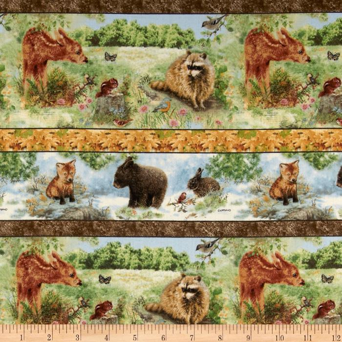 Four Seasons Wee Wild Life Scenic Stripes Multi