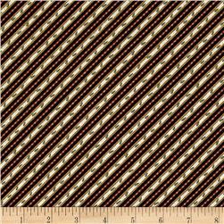 My Hometown Decorative Diagonal Stripe Black/Multi