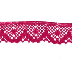 "Riley Blake Sew Together 1 1/4"" Crocheted Lace Trim Hot Pink"