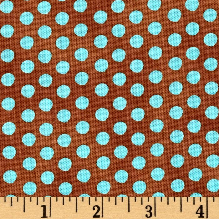 Holiday Dreams Dots Brown/Teal