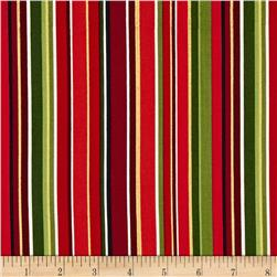 Christmas Metallic Stripe Red