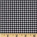 Riley Blake Small Gingham Black