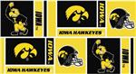 BN-783 Collegiate Cotton Broadcloth University of Iowa Squares Black/Yellow