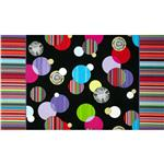 0283252 Manhattan Modern Carousel Double Border  Black/Bright Multi
