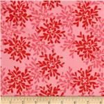 0281804 Valori Wells Bliss Flannel Leaves Ruby
