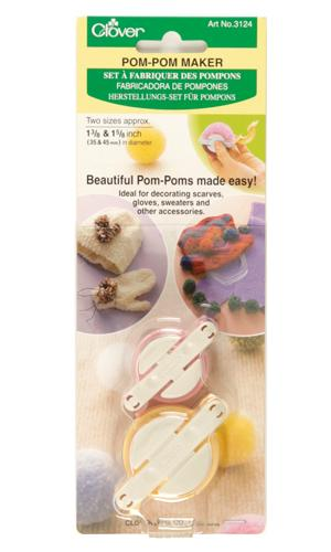 Clover Small Pom-Pom Maker (1-3/8&#39;&#39; x 1-5/8&#39;&#39;), 2/pkg