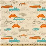 UQ-086 Premier Prints Retro Rides Mandarin Natural
