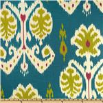 0264429 Home Accents Caftan Ikat Peacock Blue