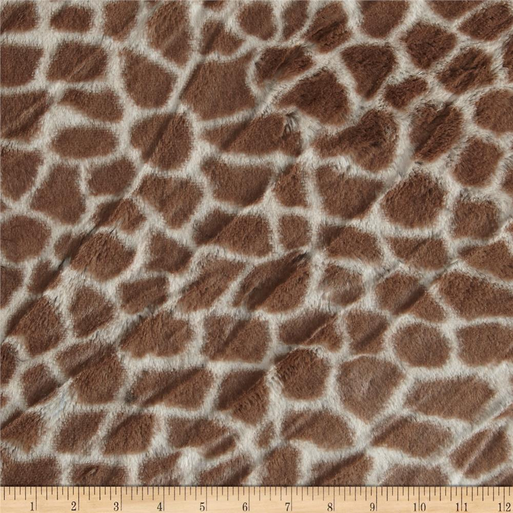 Minky Cuddle Giraffe Tan/Cream